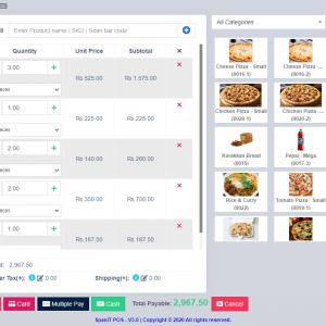 Sales (RMS) interface of our Restaurant POS software